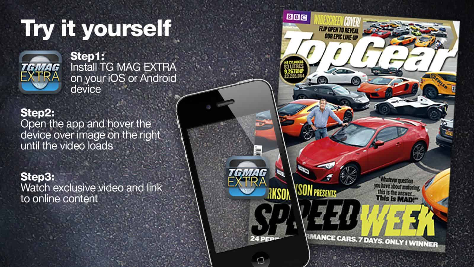 Top Gear AR magazine and app