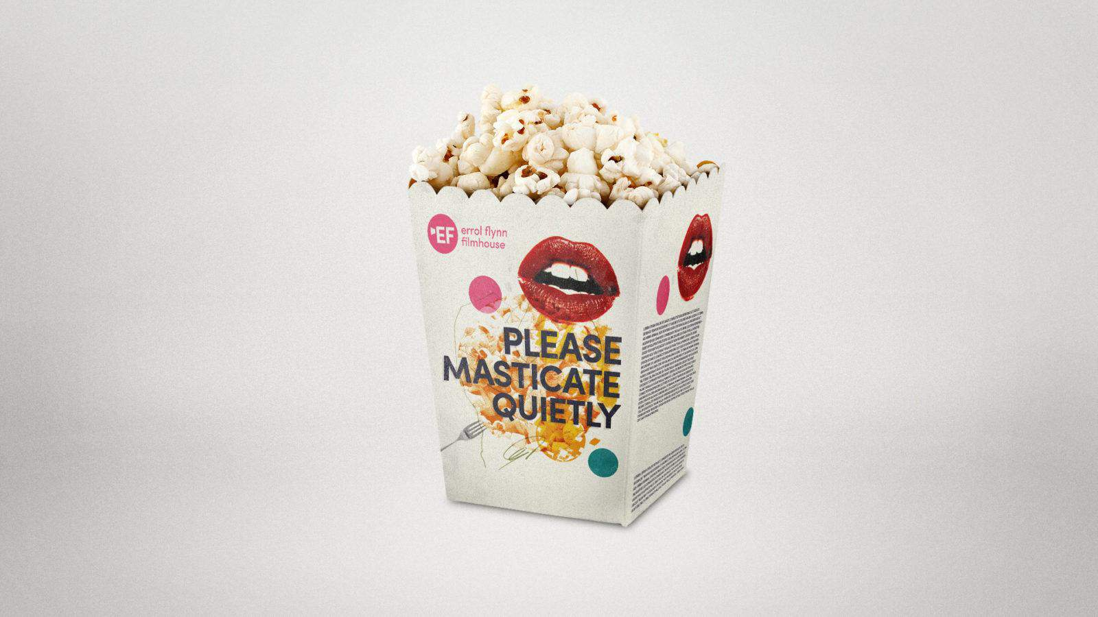 Royal & Derngate - Errol Flynn filmhouse branding