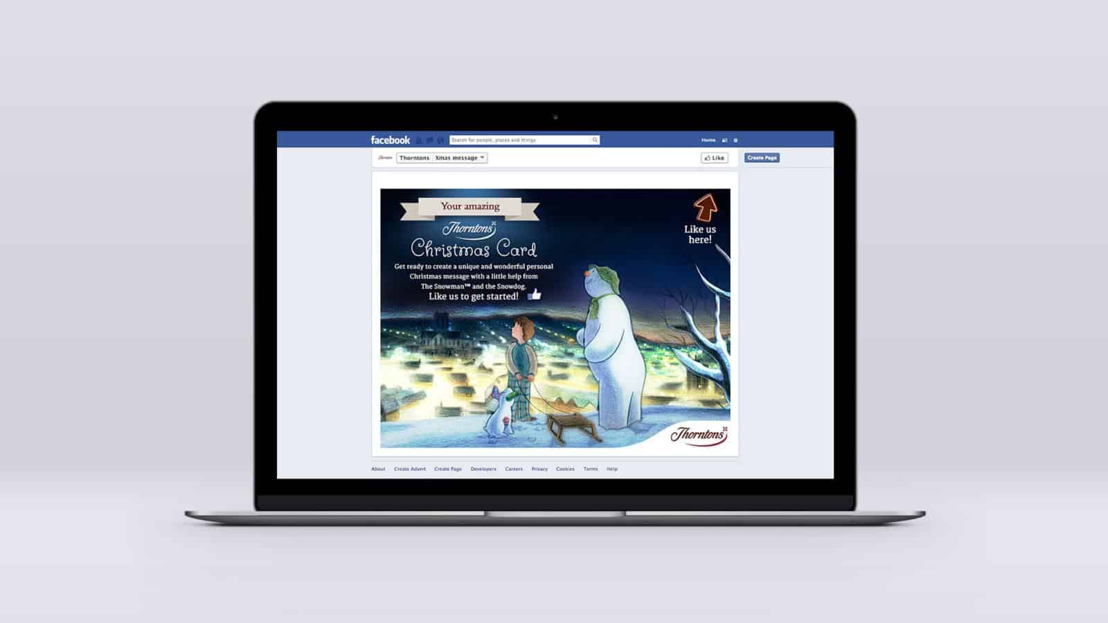 The snowman Thorntons app