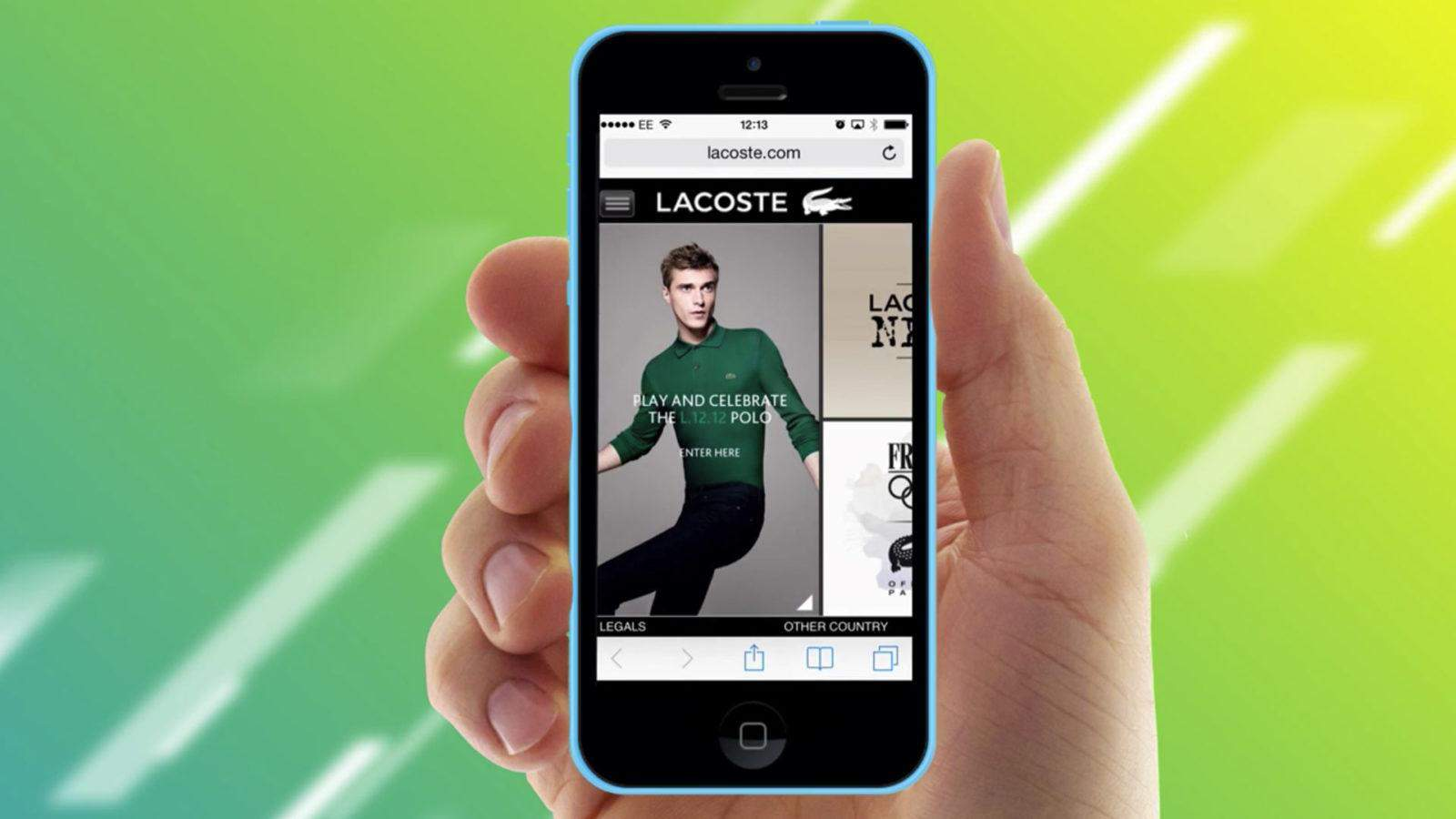 Lacoste augmented reality app