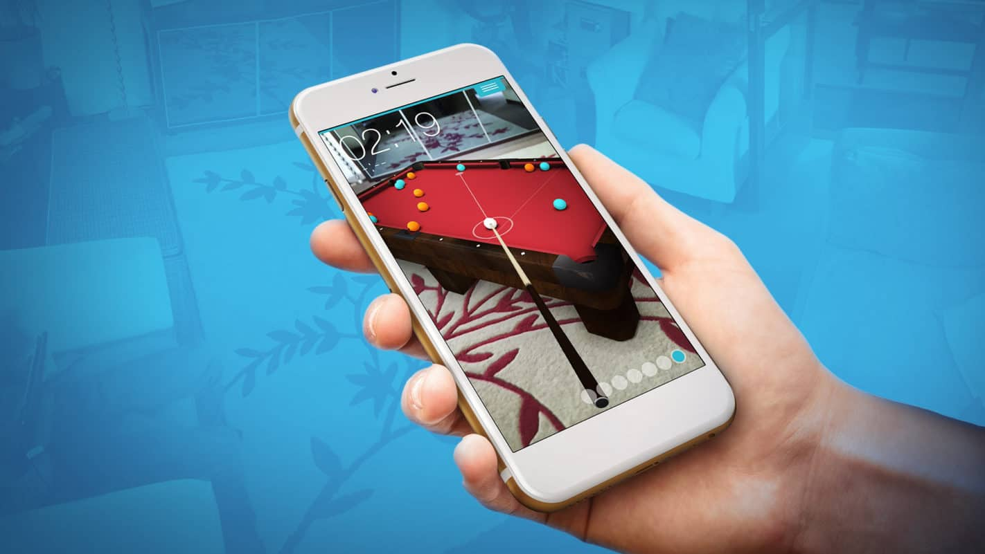 Reality Pool augmented reality game app