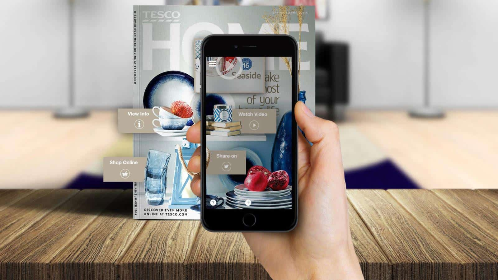Tesco Home augmented reality app