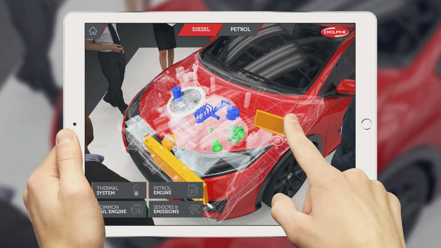 An example of an augmented reality automotive tool