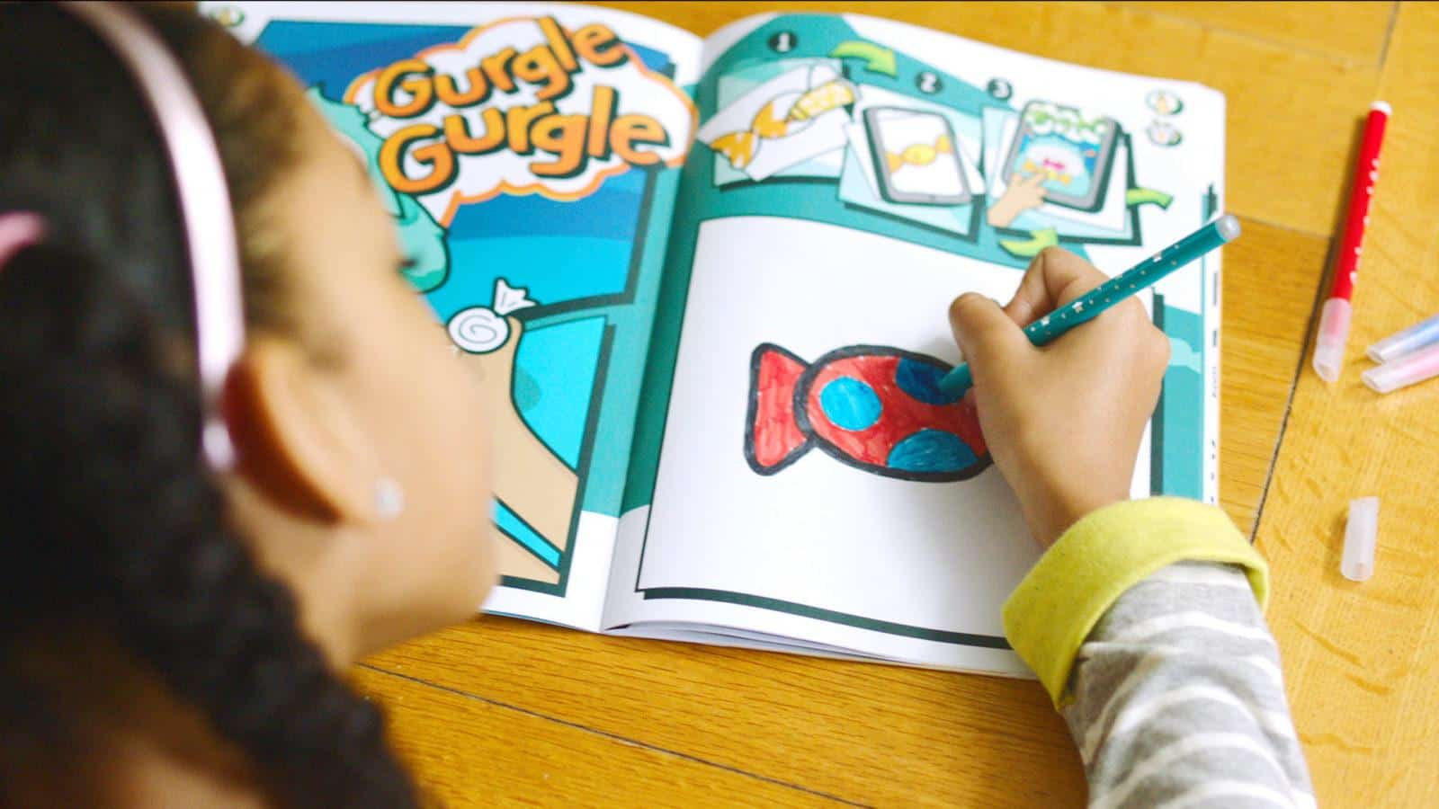 Bic Drawy book augmented reality colouring book and app