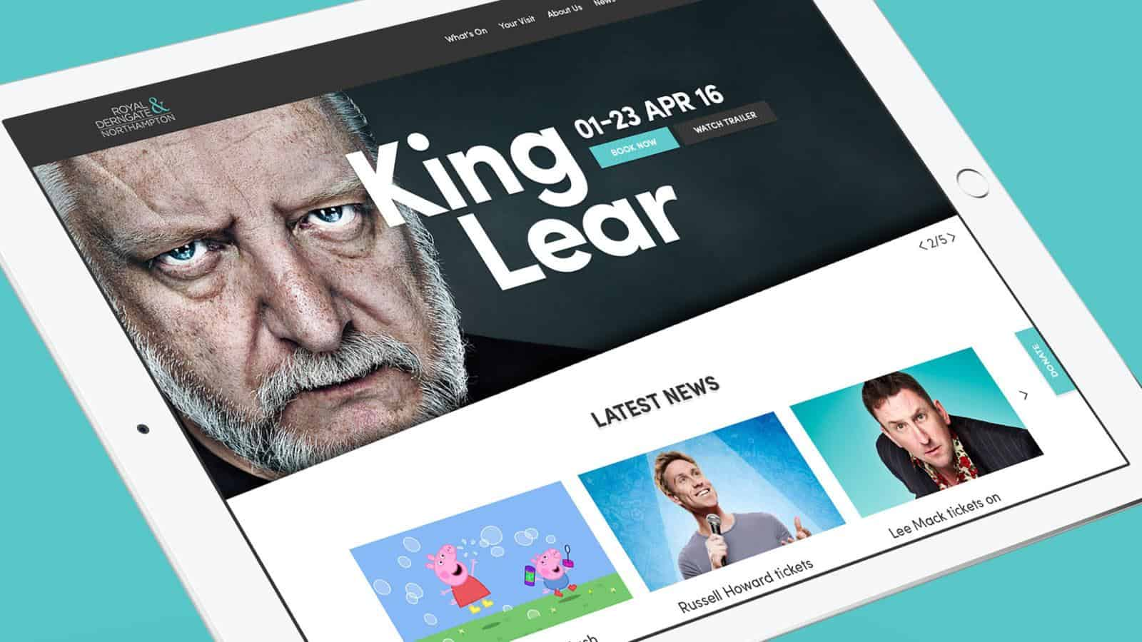 Royal & Derngate responsive website