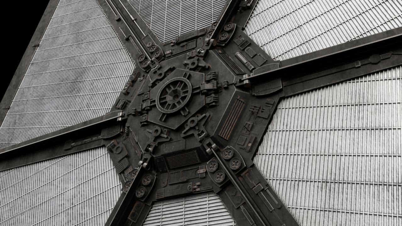 Photorealistic 3D Tie Fighter - detail