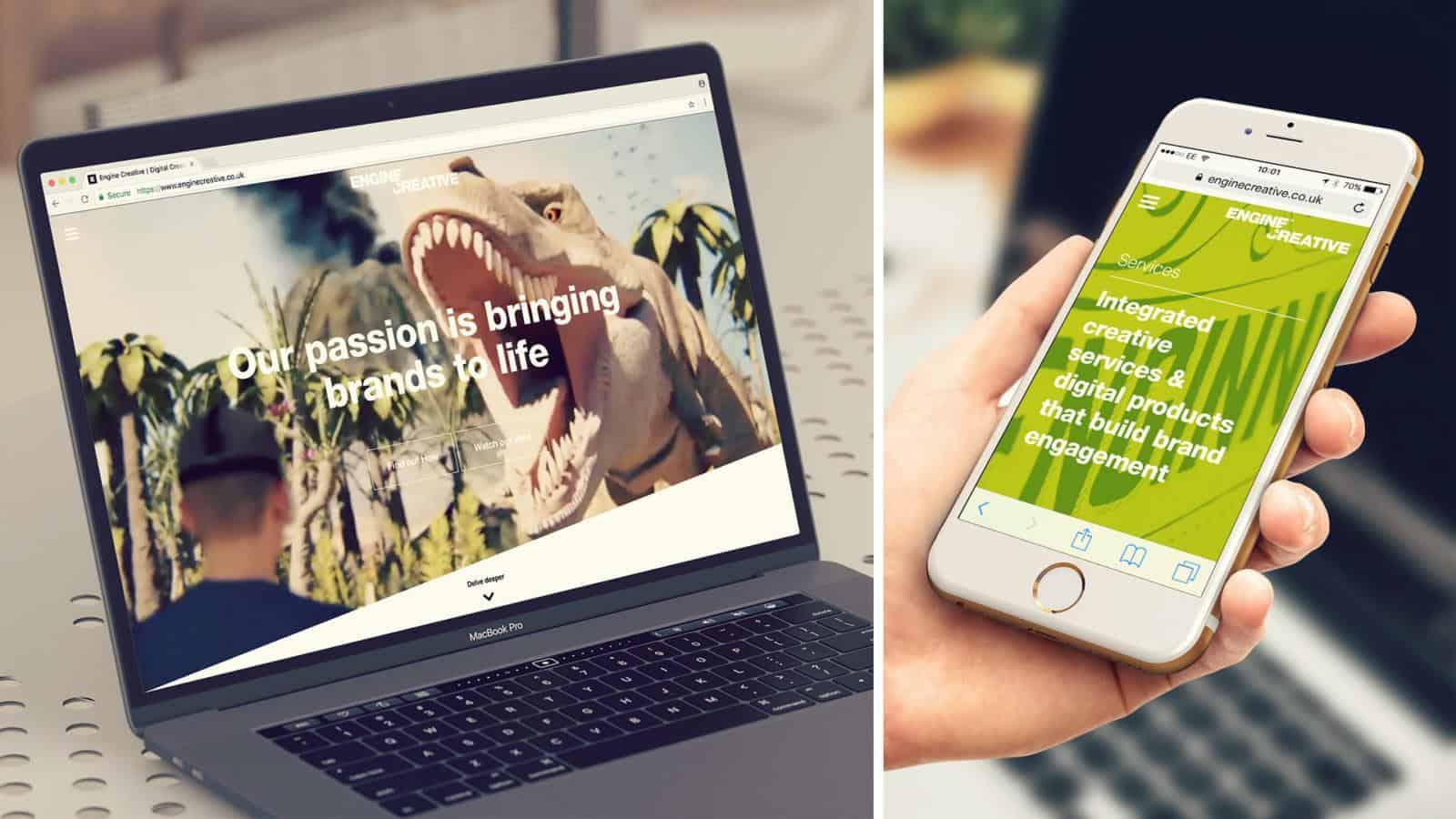 Engine Creative agency website - mobile responsive