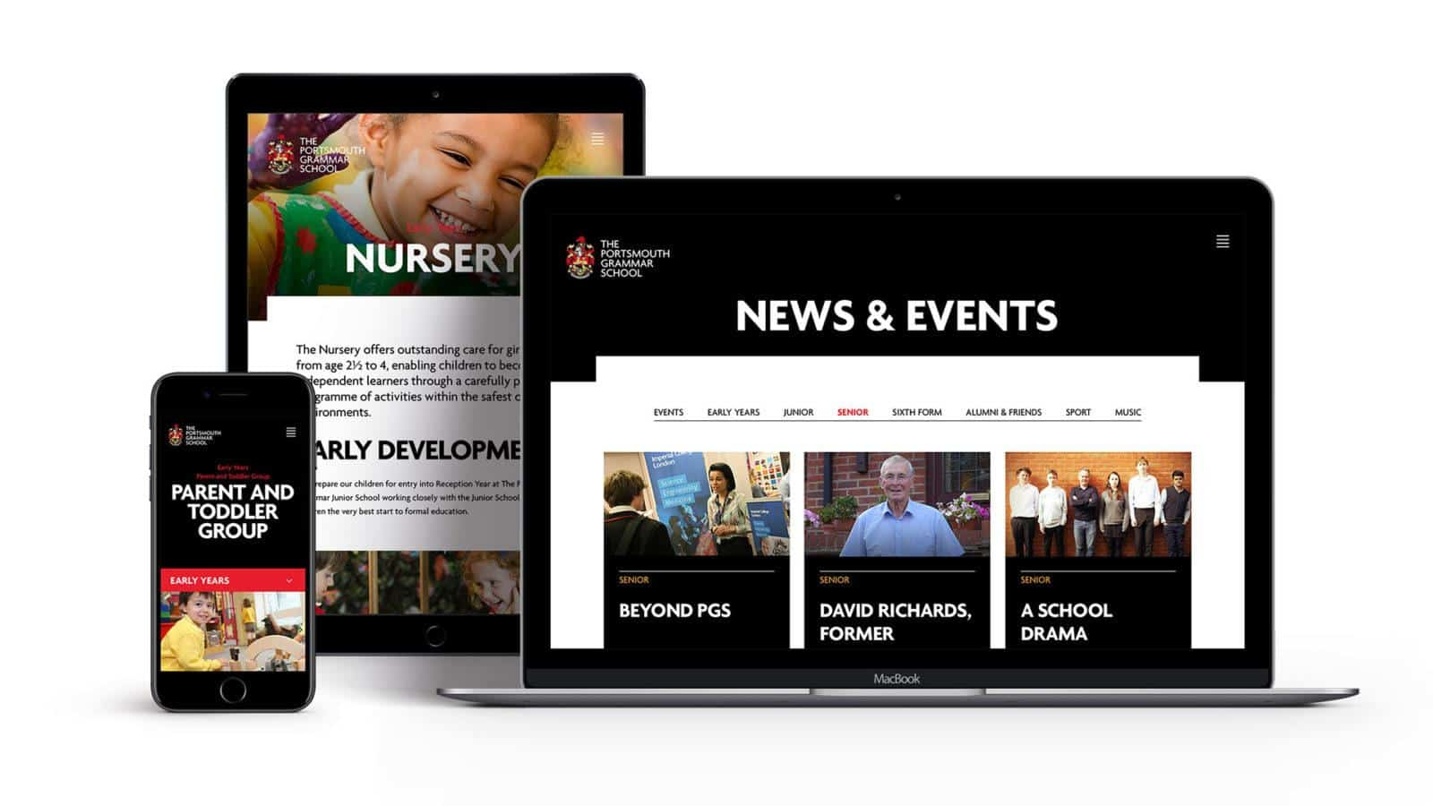 Portsmouth Grammar School Effective Website Design