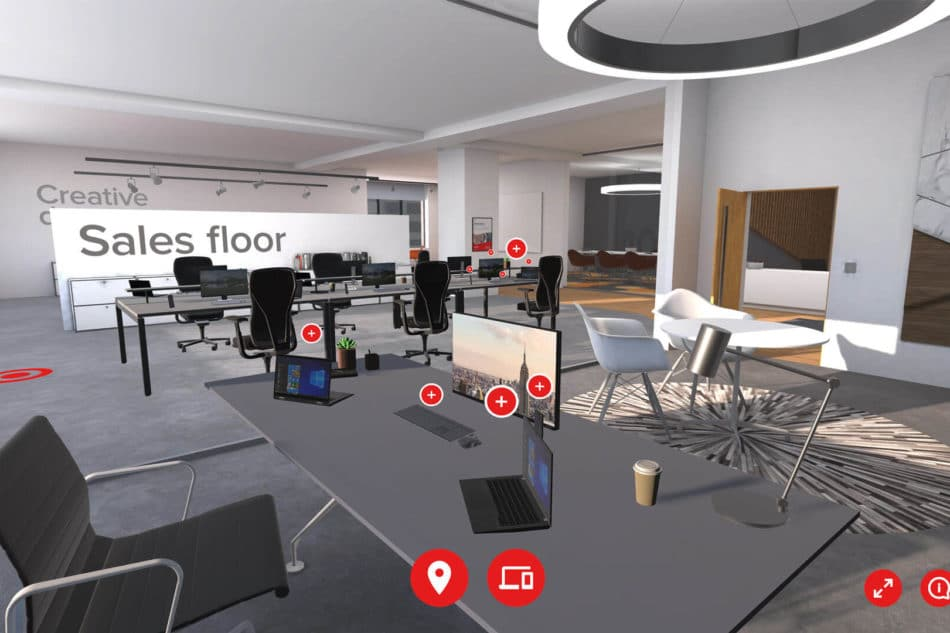 Exertis Augmented Reality B2B Sales Channel - Modern Office