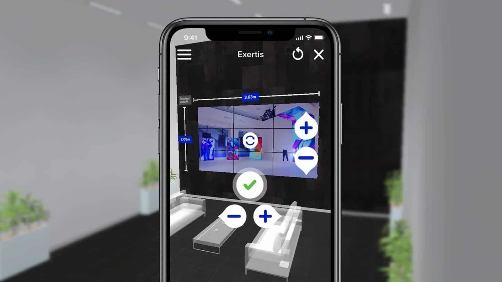 Exertis Augmented Reality B2B Sales Channel - Samsung LFD